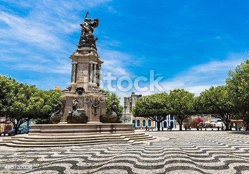 San Sebastian Square in Manaus downtown, Brazil