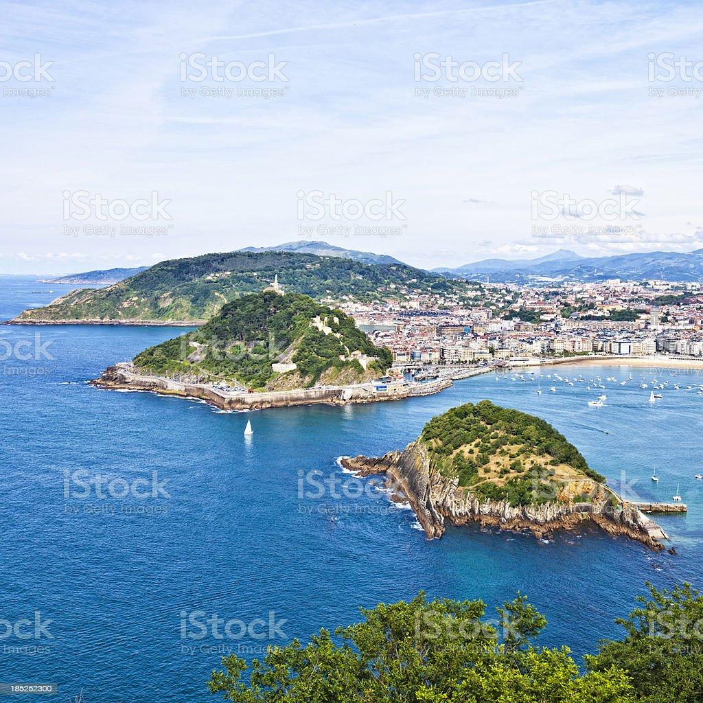 San Sebastian view. stock photo