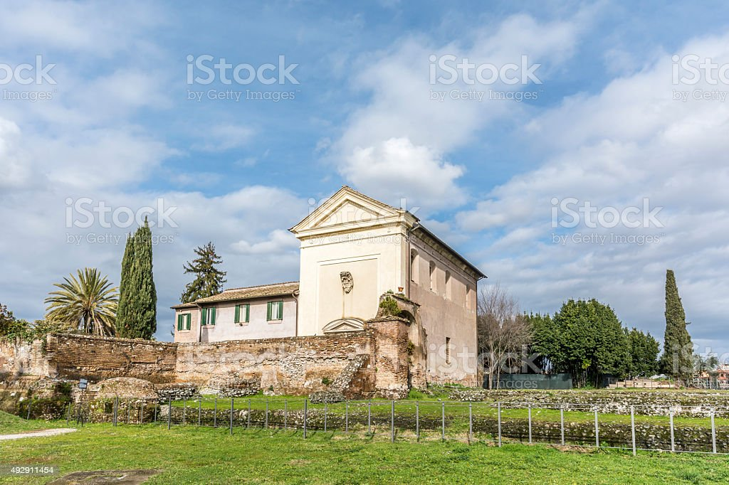 San Sebastiano al Palatino Church, Rome stock photo