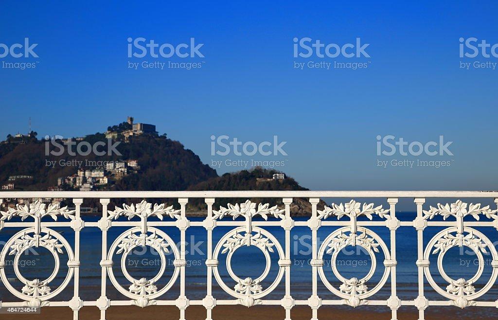 San Sebastian-The railing stock photo