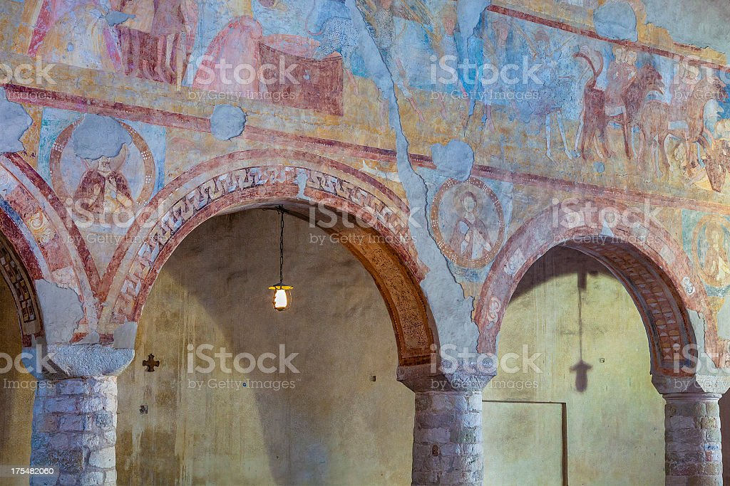 San Severo Church, Bardolino, Italy stock photo