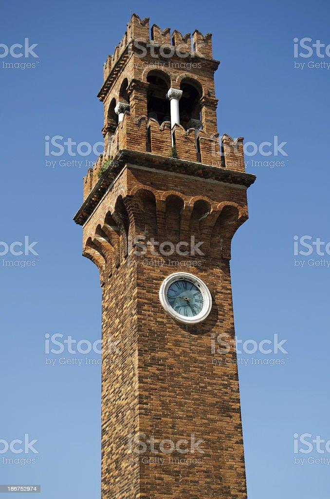 San Stefano church bell tower, Murano royalty-free stock photo
