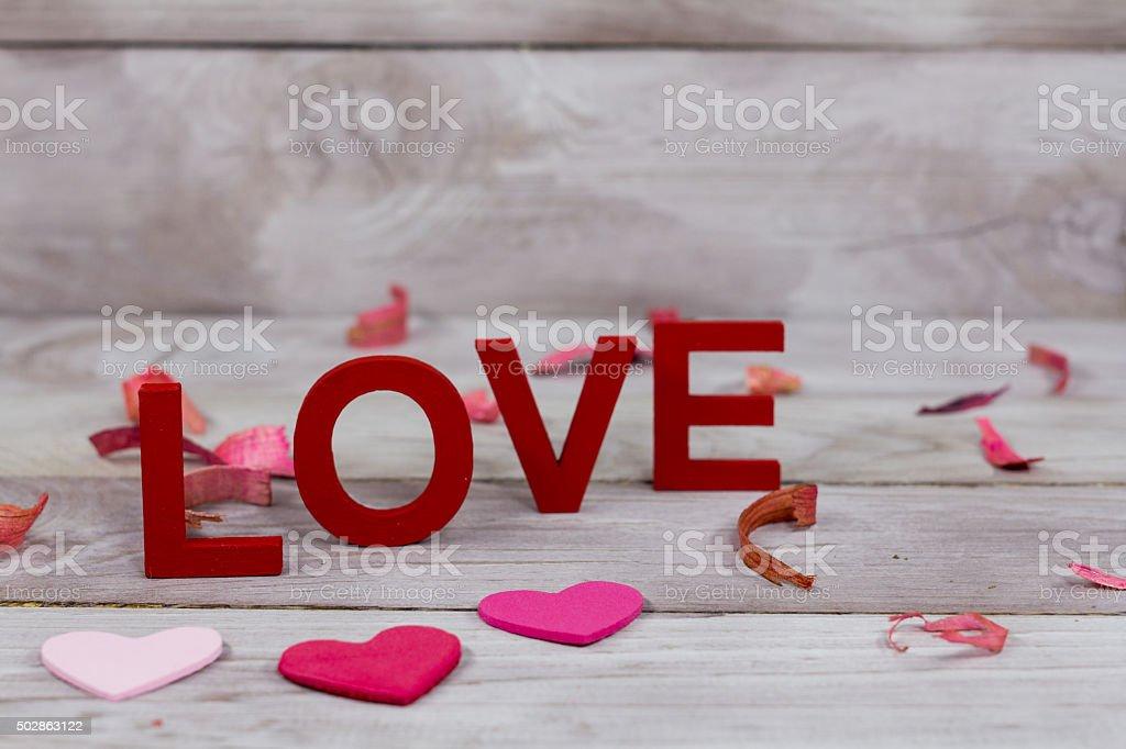 San valentin Love word stock photo