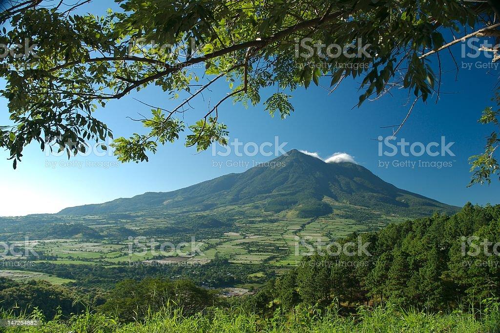 San Vicente Volcano El Salvador Central America royalty-free stock photo
