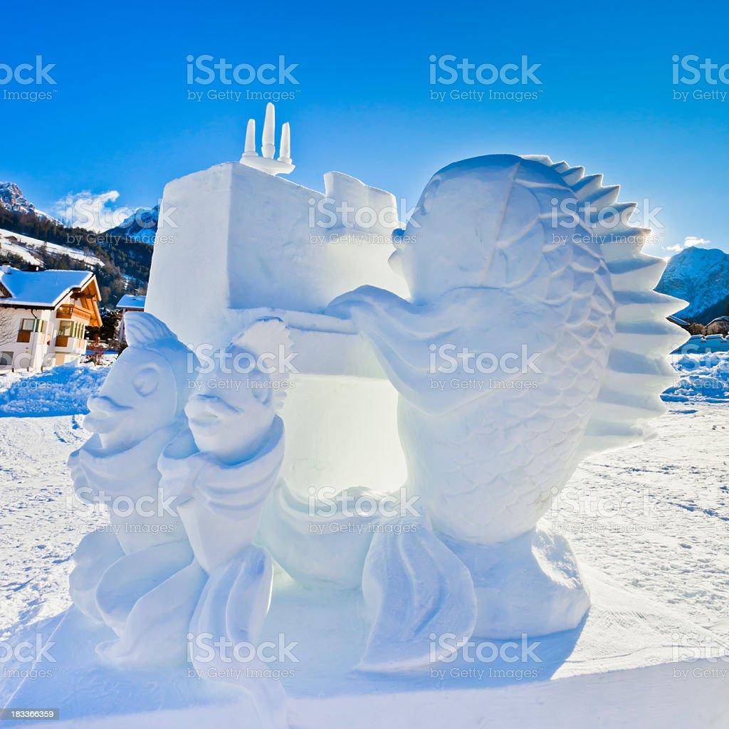 "San Vigilio Snow Festival, ""Anniversary Melody royalty-free stock photo"