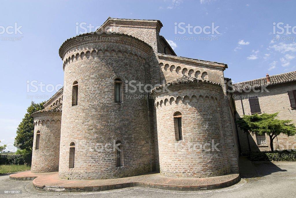 San Vito (Ferrara) - Church in Romanesque style royalty-free stock photo