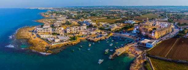 San Vito,Polignano a Mare,Bari, Italy Aerial Photo stock photo