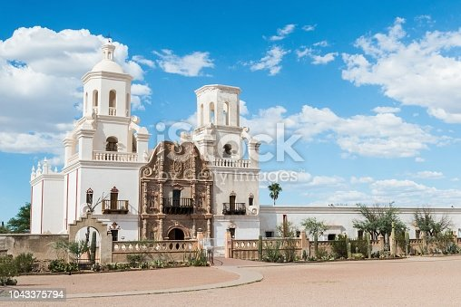 Old catholic mission in Tucson, Arizona