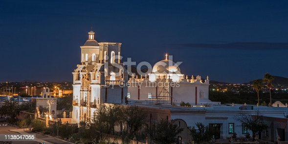 A view of San Xavier Mission. White dove of the desert.