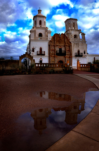 San Xavier mission in Tucson Arizona Spanish religion building architecture