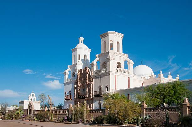 San Xavior Mission Tucson Arizona stock photo