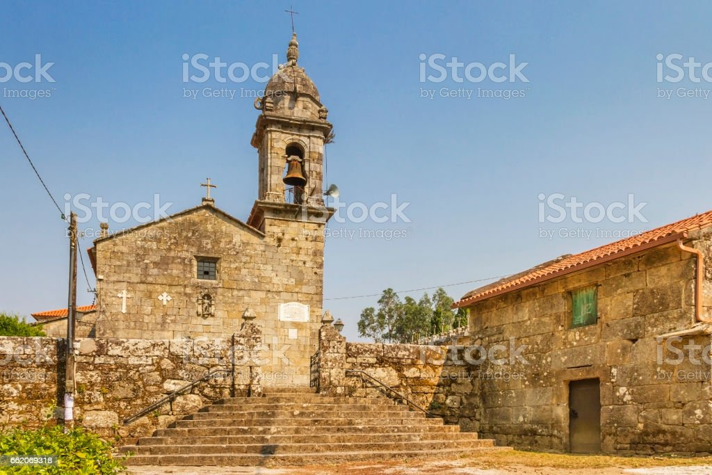 San Xoan of Baion church royalty-free stock photo