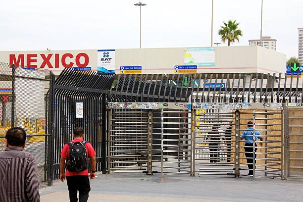 San Ysidro Port of Entry stock photo