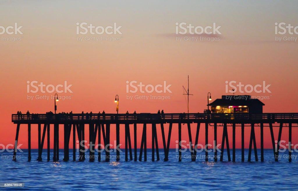 San_Clemente_Pier stock photo