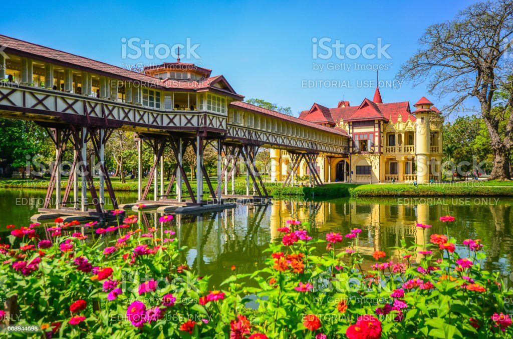 Sanamchan Palace in Nakornpathom, Thailand stock photo