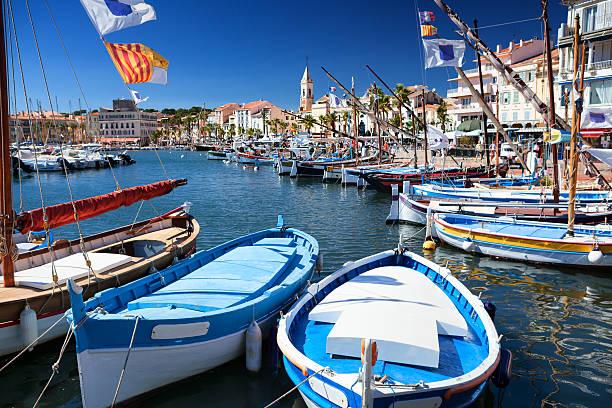 Sanary port en Côte d'Azur, en France - Photo