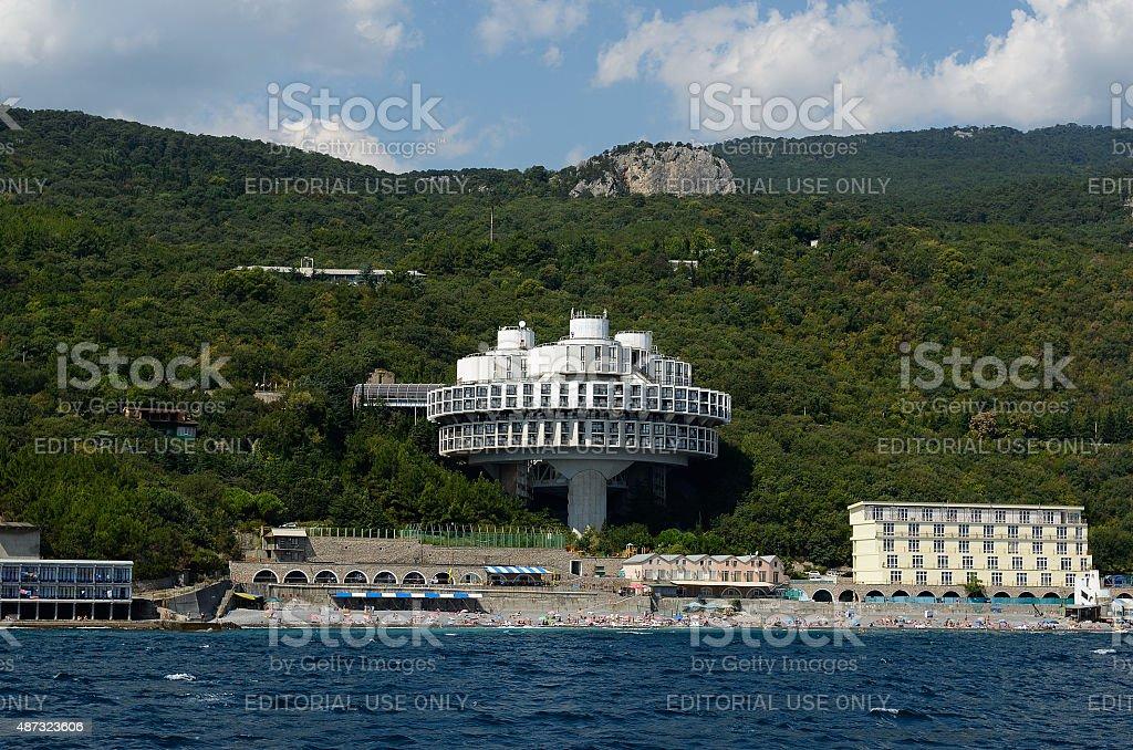 Sanatorium 'Kurpaty', Gaspra, Crimea stock photo