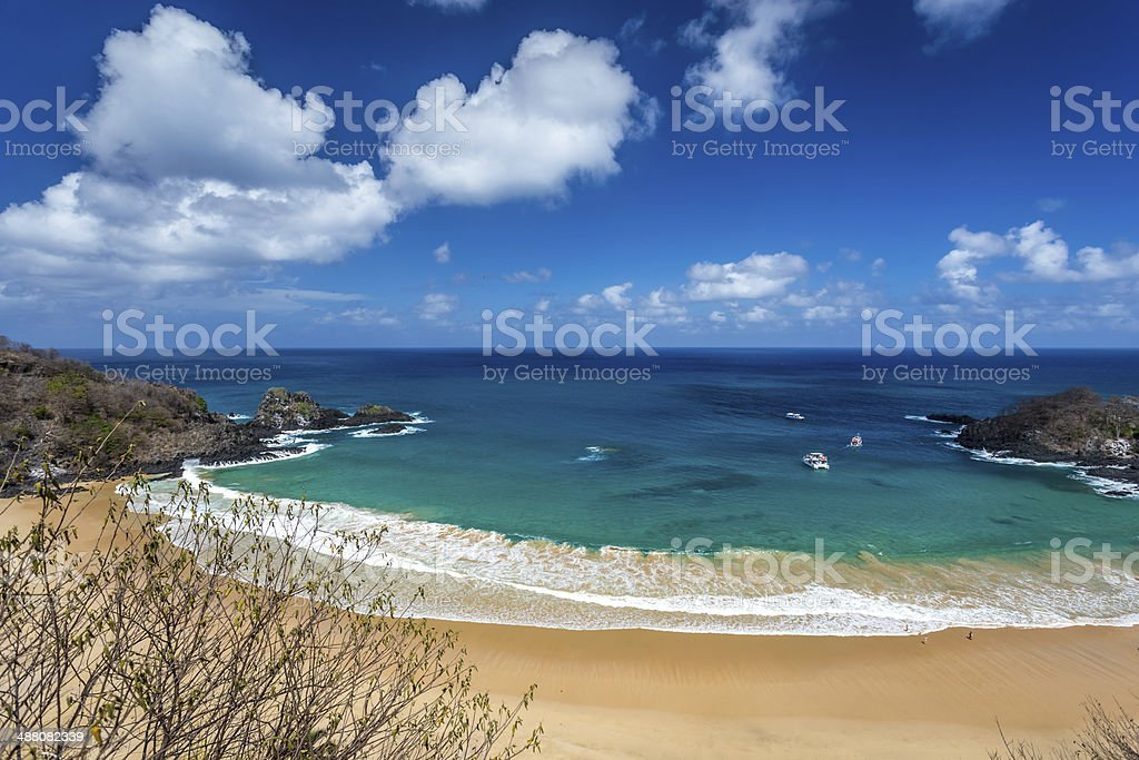 Sancho Bay Beach in Fernando de Noronha stock photo