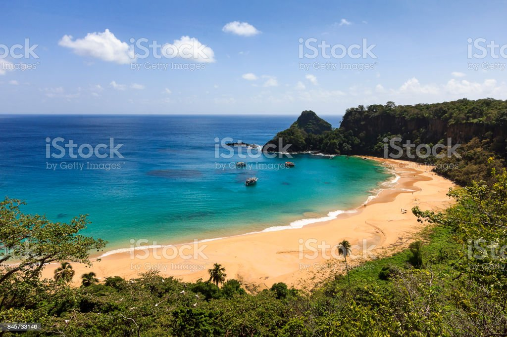 Praia do Sancho at Fernando de Noronha stock photo