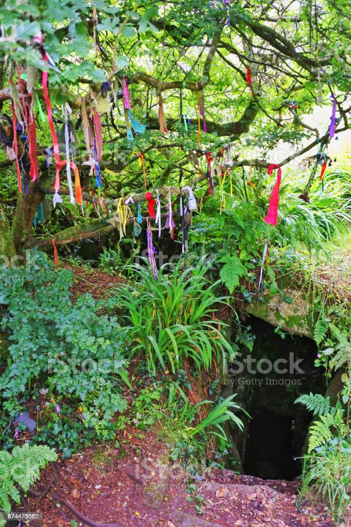 Sancreed Holy Well stock photo