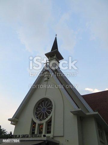 JAKARTA, INDONESIA - November 12, 2017: Gereja Santa Theresia (Sancta Theresia Church)