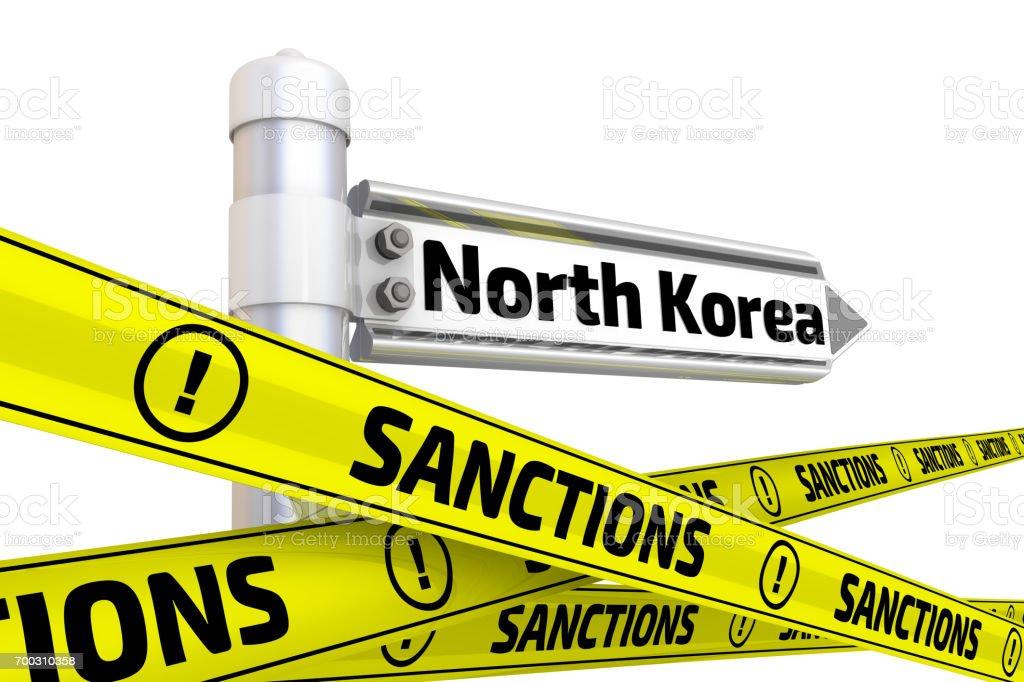 Sanctions against North Korea. Concept stock photo