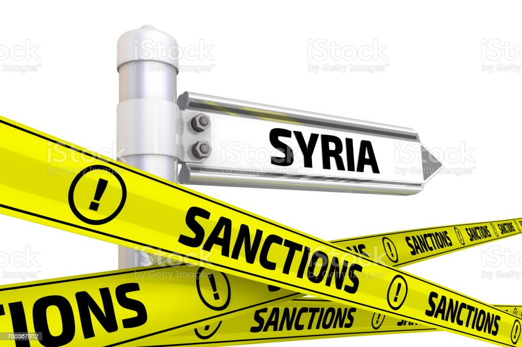 Sanctions against Syria. Concept stock photo
