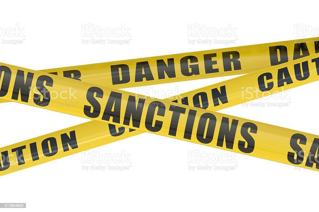 Sanctions concept stock photo