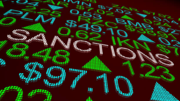 Sanctions International Import Export Tariffs Punishment Stock Market 3d Illustration Sanctions International Import Export Tariffs Punishment Stock Market 3d Illustration sanctions stock pictures, royalty-free photos & images