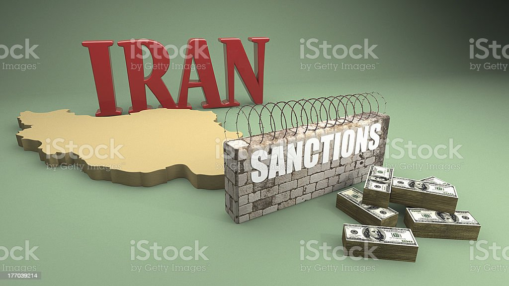 US Sanctions on Iran stock photo
