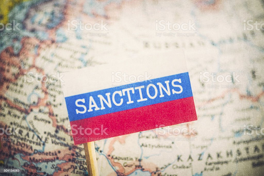 Sanctions Over Russia stock photo