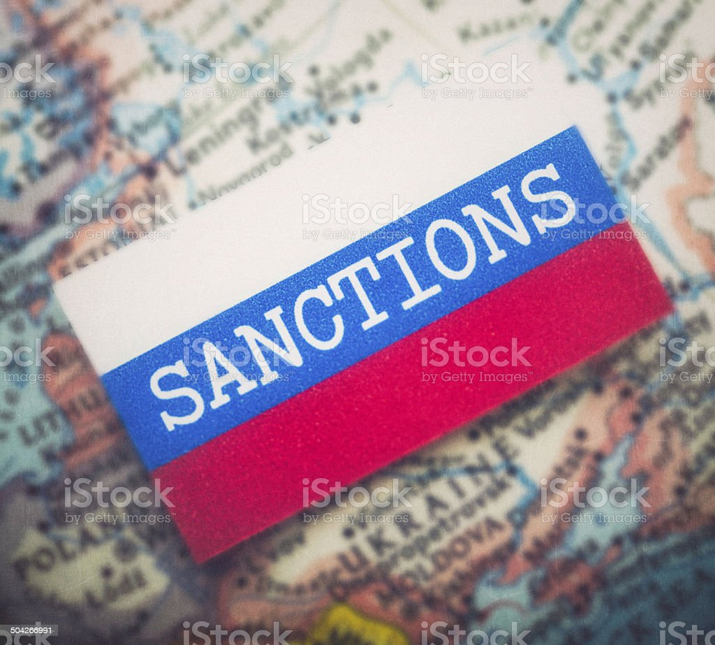 Sanctions Over Russia royalty-free stock photo