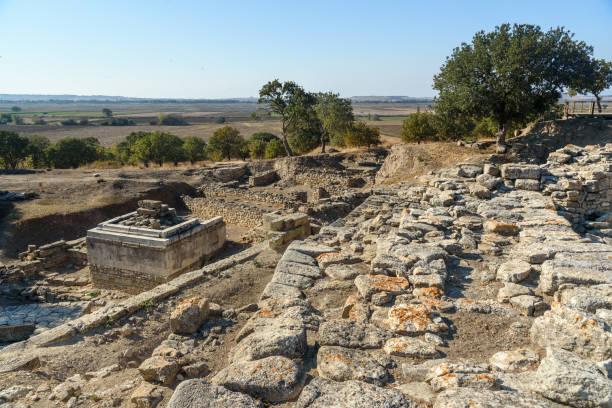 Heiligtum in antiken Stadt Troja. Turkei – Foto