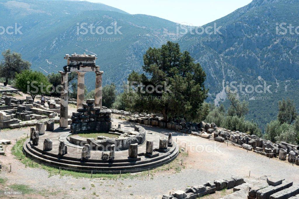 Sanctuary of Apollo, Delphi, Greece stock photo