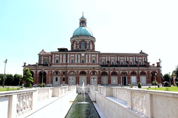 Sanctuary of Caravaggio fountain stock photo