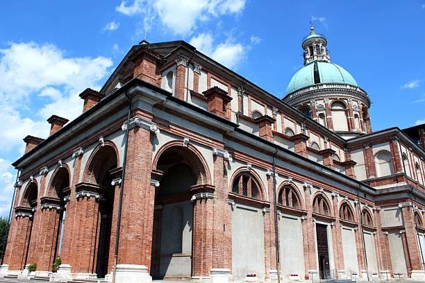 Sanctuary of Caravaggio roman catholic church stock photo