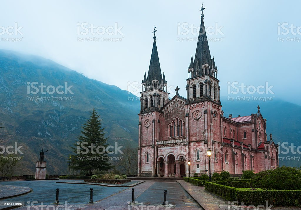Sanctuary of Covadonga stock photo