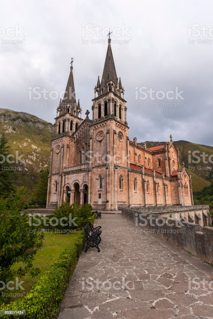 Sanctuary of Covadonga. stock photo