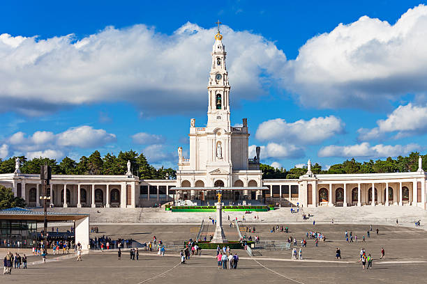 Sanctuary of Fatima The Sanctuary of Fatima, which is also referred to as the Basilica of Our Lady of Fatima, Portugal shrine stock pictures, royalty-free photos & images