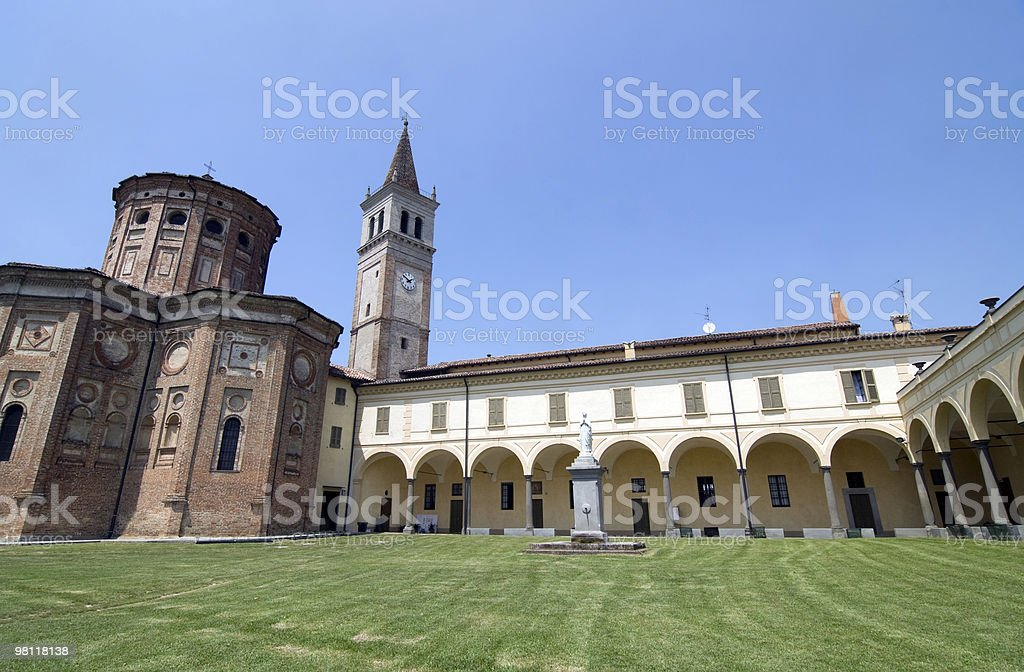 Sanctuary of Misericordia (Cremona, Italy), church and cloister exterior royalty-free stock photo