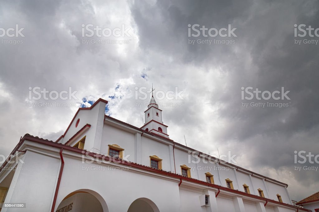 Sanctuary of Monserrate stock photo