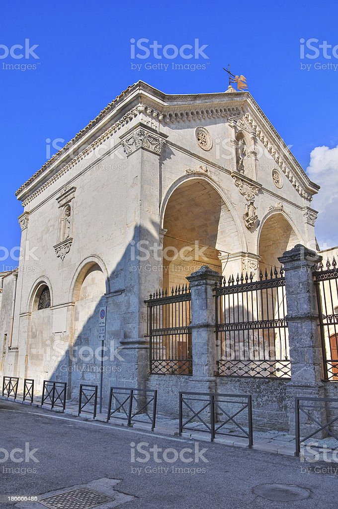 Sanctuary of Monte Sant'Angelo. Puglia. Italy. stock photo