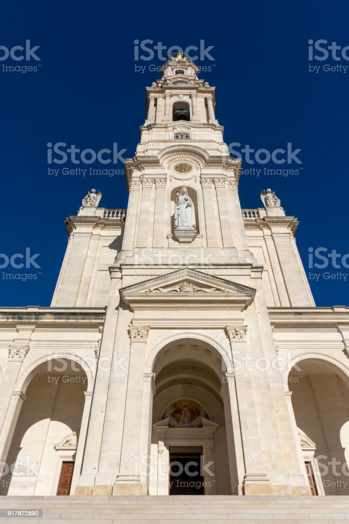 Sanctuary of Our Lady of Fátima - Portugal stock photo