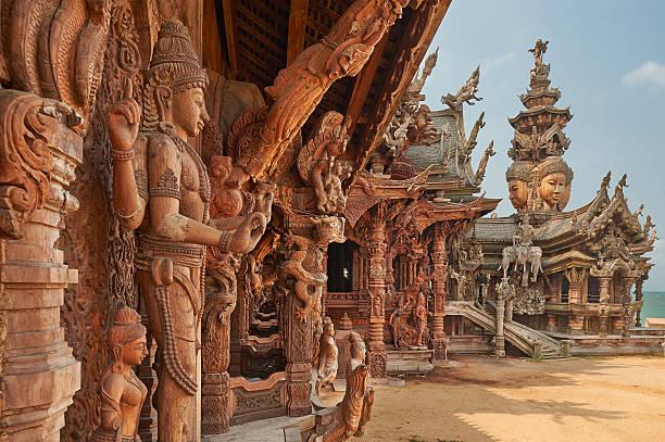 Cтоковое фото Храм Истины в Паттайе, Таиланд.