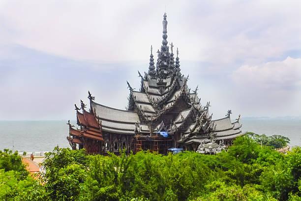 Sanctuary of Truth - Pattaya, Thailand stock photo