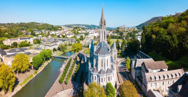 Sanctuary Our Lady Church, Lourdes stock photo