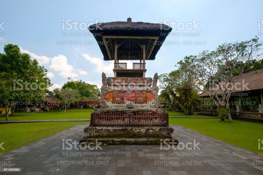 Sanctum of Balinese Hinduism praying altar stock photo