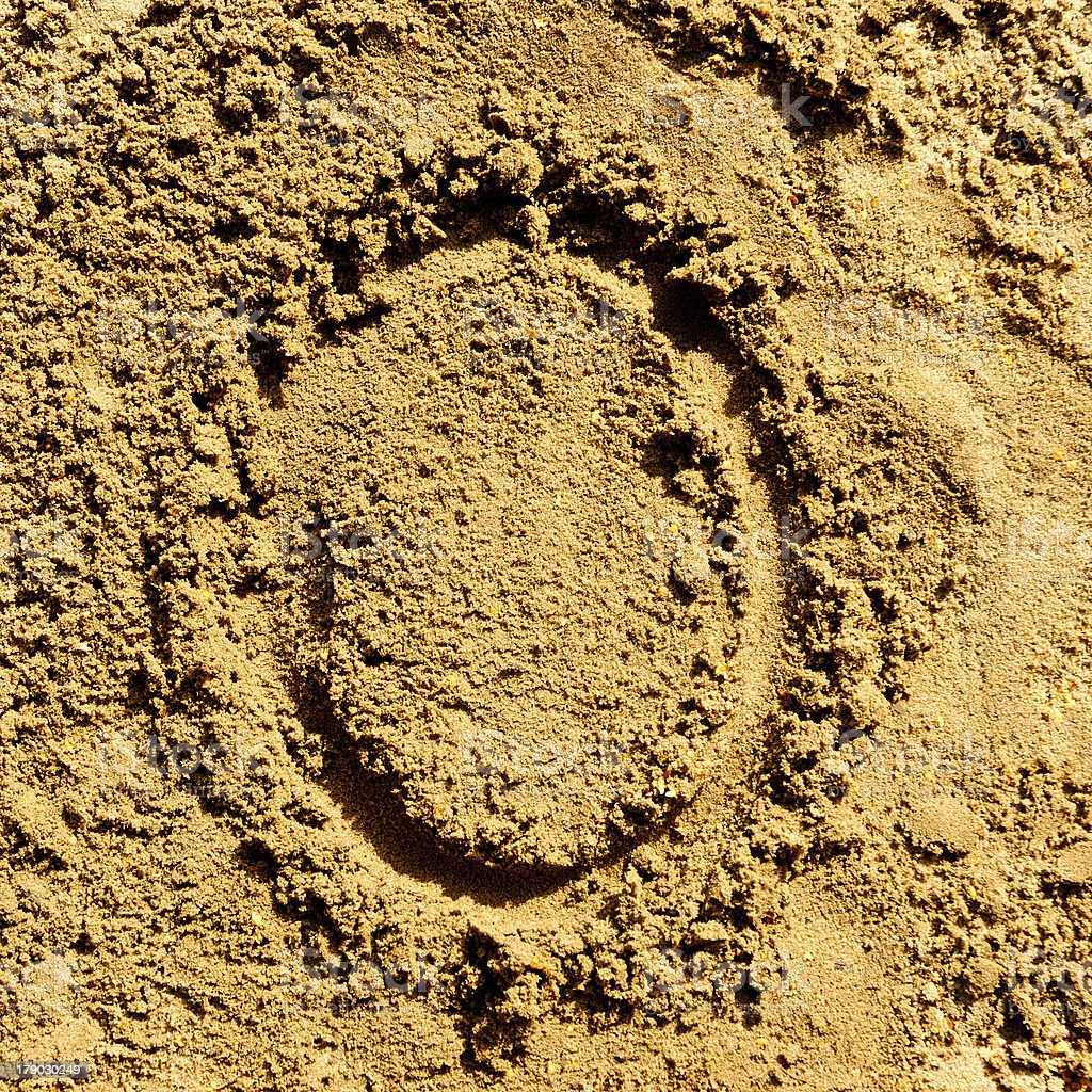 sand alphabet royalty-free stock photo