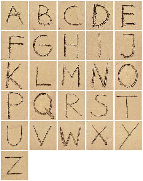 sand alphabet - ruth 個照片及圖片檔