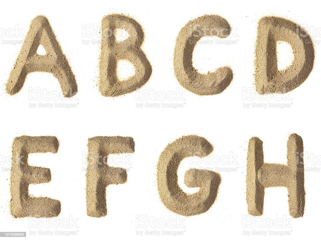 Arena alfabeto XXXL - foto de stock